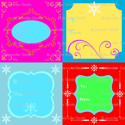 Holiday Gift Tags - with To & From