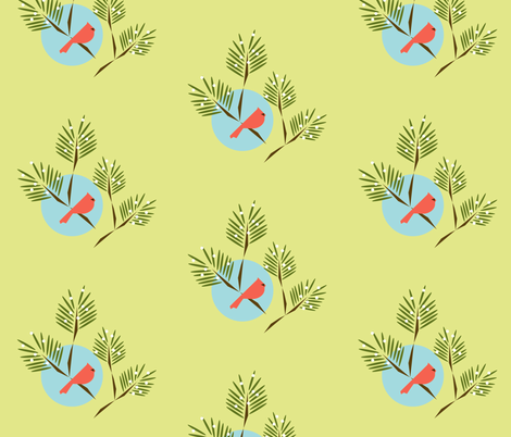 Winter bird fabric by langdon on Spoonflower - custom fabric