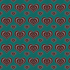 Voodoo Hearts on teal small