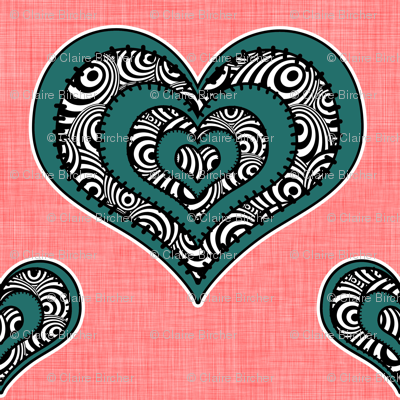 Voodoo Hearts on pink small