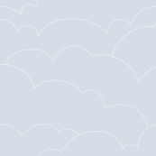 skyline clouds - pale gray blue