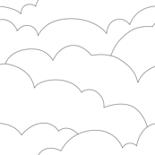 skyline clouds - black on white