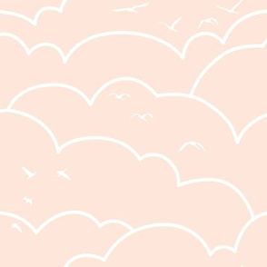 flying high - pale pink