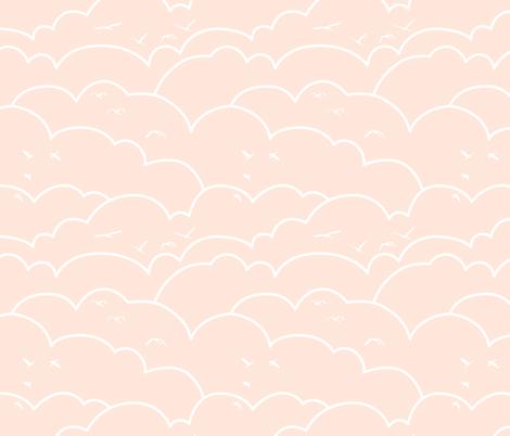 flying high - pale pink fabric by ravynka on Spoonflower - custom fabric