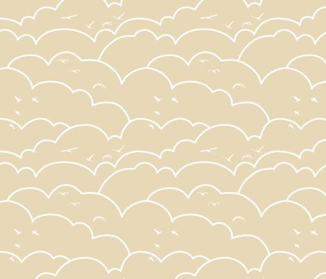 flying high - latte fabric by ravynka on Spoonflower - custom fabric