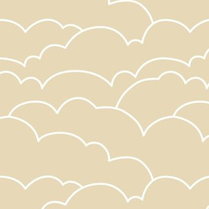 skyline clouds - latte