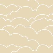 skyline clouds - latte
