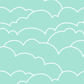 skyline clouds - mint