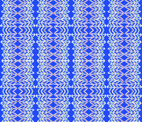 Hand Drawn Arrows on Blue fabric by anniedeb on Spoonflower - custom fabric