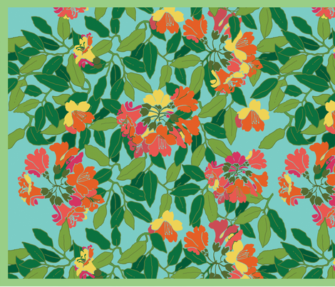 Rhododendron fabric by s_benarcik on Spoonflower - custom fabric