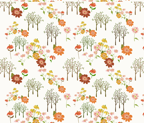 Echinacea fabric by s_benarcik on Spoonflower - custom fabric