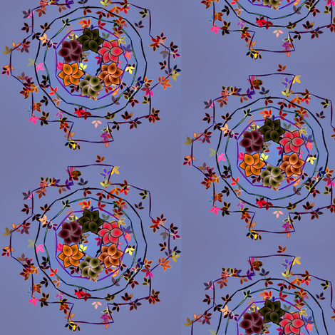 Daisy_Chain_Floral_on_Blue fabric by patsijean on Spoonflower - custom fabric