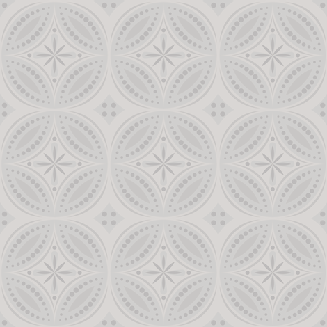 Moroccan Tiles (Pale Cool Gray) fabric by shannonmac on Spoonflower - custom fabric