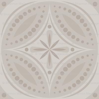 Moroccan Tiles (Pale Warm Gray)
