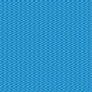 mini chevron white on blue