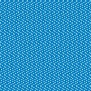 mini chevron white on blue