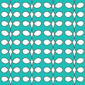 Contemporary Beanstalk in Turquoise