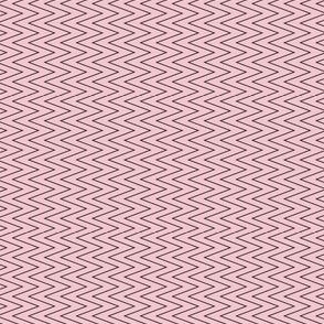mini chevron black on pink