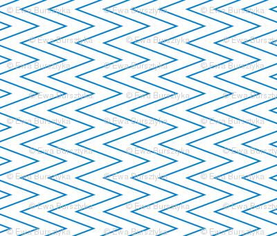 mini chevron blue on white