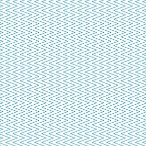 mini chevron blue on white