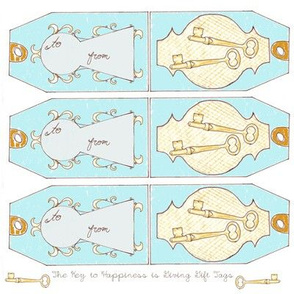 The Key to Happiness is Giving Gift Tags
