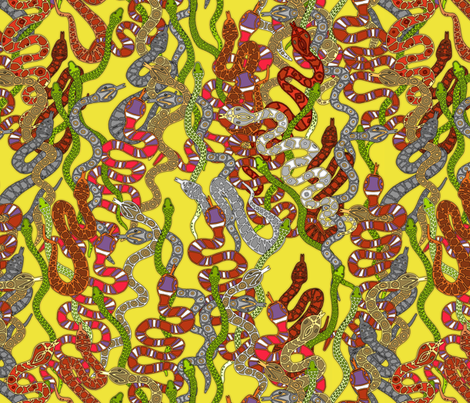 Year of the Snake fabric by scrummy on Spoonflower - custom fabric