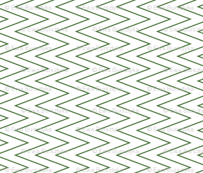 mini chevron green on white