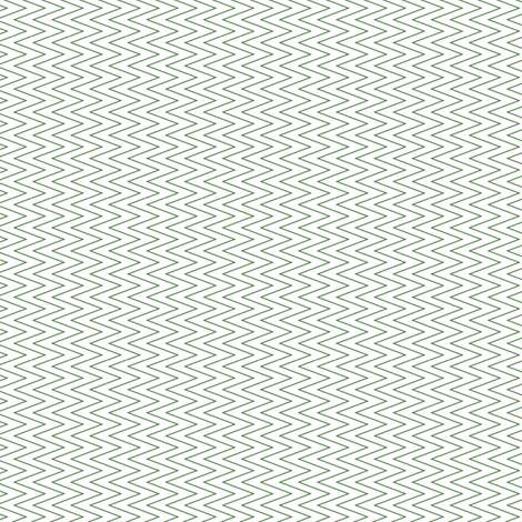 mini chevron green on white fabric by ravynka on Spoonflower - custom fabric