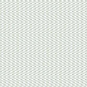 mini chevron green on white