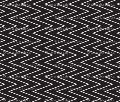 mini chevron white on black