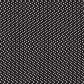 mini chevron white on black