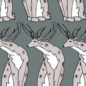 Deer on Blue