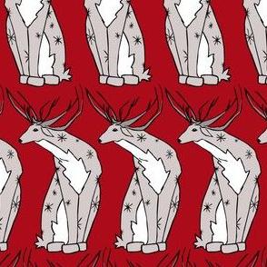 Deer on Red