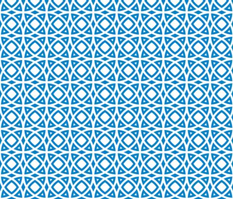 circles blue fabric by ravynka on Spoonflower - custom fabric