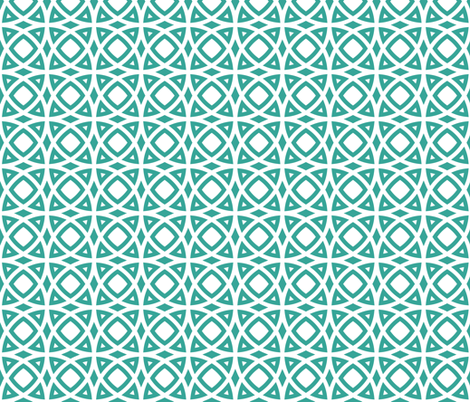 circles teal fabric by ravynka on Spoonflower - custom fabric