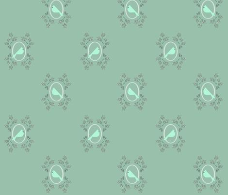 Minty winter bird fabric by langdon on Spoonflower - custom fabric