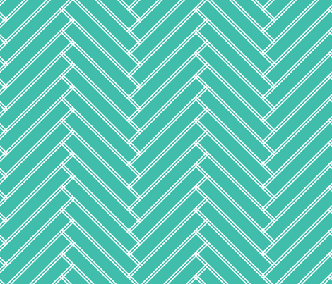 herringbone turquoise fabric by ravynka on Spoonflower - custom fabric