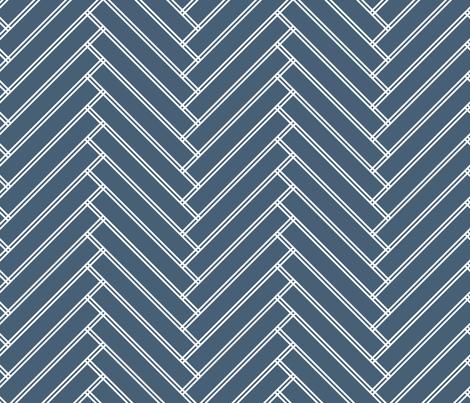 herringbone grayish navy fabric by ravynka on Spoonflower - custom fabric