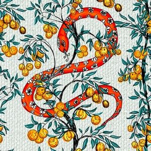 Snake and Orange Trees