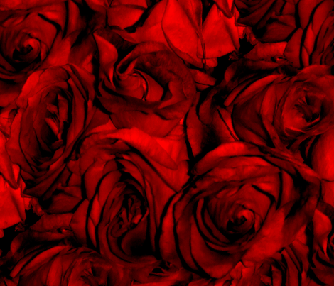 Blood Roses, Blood Roses fabric - peacoquettedesigns ...