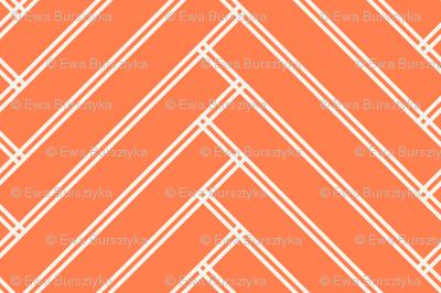 herringbone tangerine