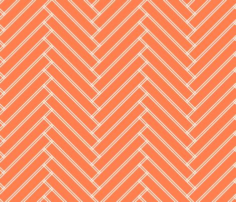 herringbone tangerine fabric by ravynka on Spoonflower - custom fabric