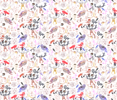 Woodlands fabric by maghenbrown on Spoonflower - custom fabric