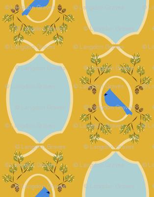 Yellow  blue Victorian bird