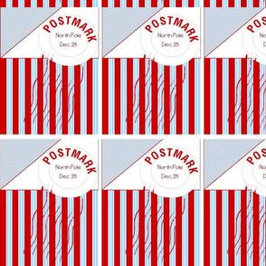 Postmark North Pole Pattern