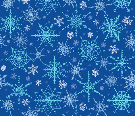 Snow at midnight fabric by victorialasher on Spoonflower - custom fabric