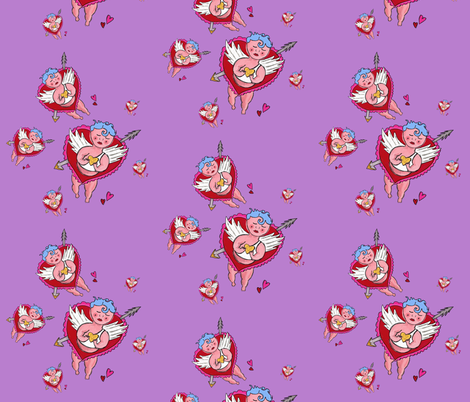 cupids fabric by kristinbell on Spoonflower - custom fabric