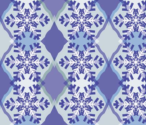 Fun Ogee-Snowflake 2 fabric by owlandchickadee on Spoonflower - custom fabric