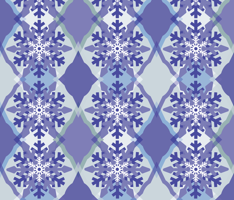 Fun Ogee-Snowflake 1 fabric by owlandchickadee on Spoonflower - custom fabric