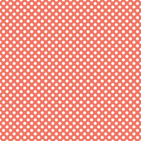 Coral Polka fabric by eleasha on Spoonflower - custom fabric